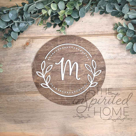 Shiplap Monogram Round, Farmhouse Initial Letter Sign