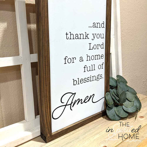 Thankful Wooden Sign - The Inspirited Home