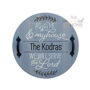 Personalized Round Wooden Tray