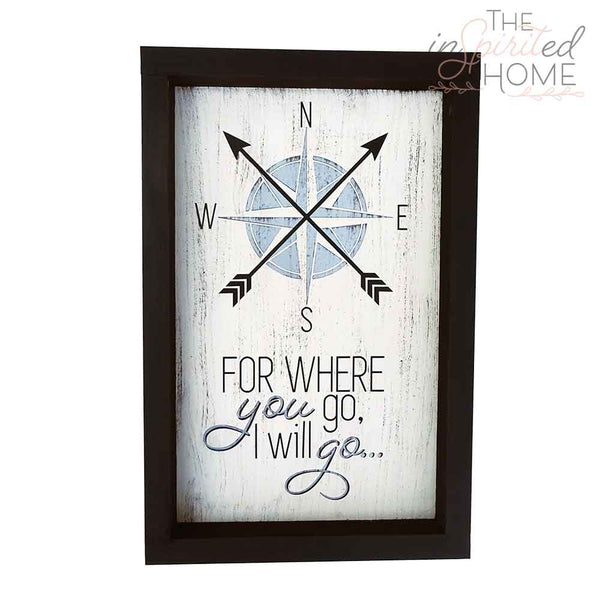 Where you go I will go - Wood Wall Decor Set