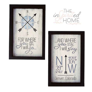 Ruth 1:16 - Wood Wall Decor Set