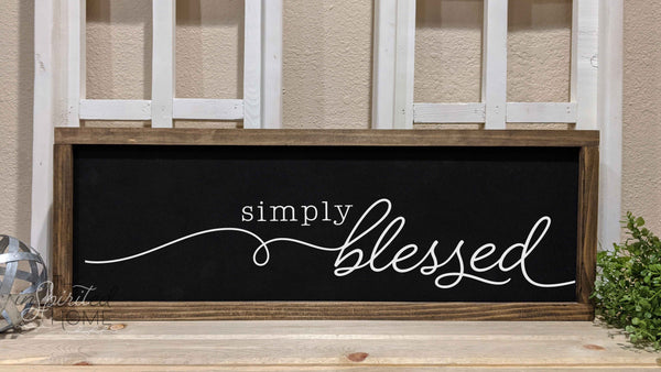Blessed Wall Sign - The Inspirited Home