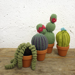 Knitted cacti