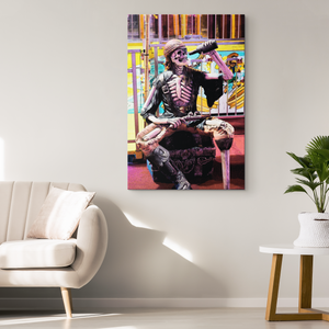 """Pirates Never Die"" Original Art Canvas Wrap"