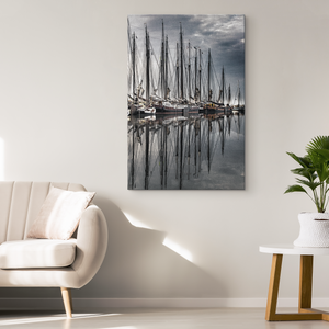 """Pirate Ship Reflections"" Original Art Canvas Wrap"