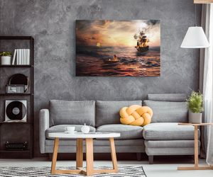"""Fleeing The Battle"" Original Art Canvas Wrap"