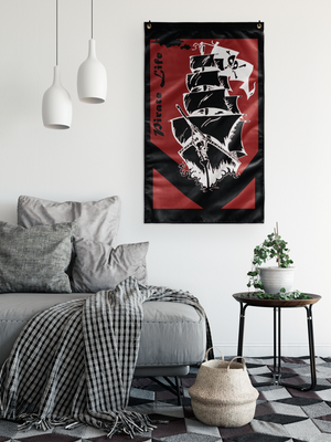 """Pirate Life"" Original Art Flag"