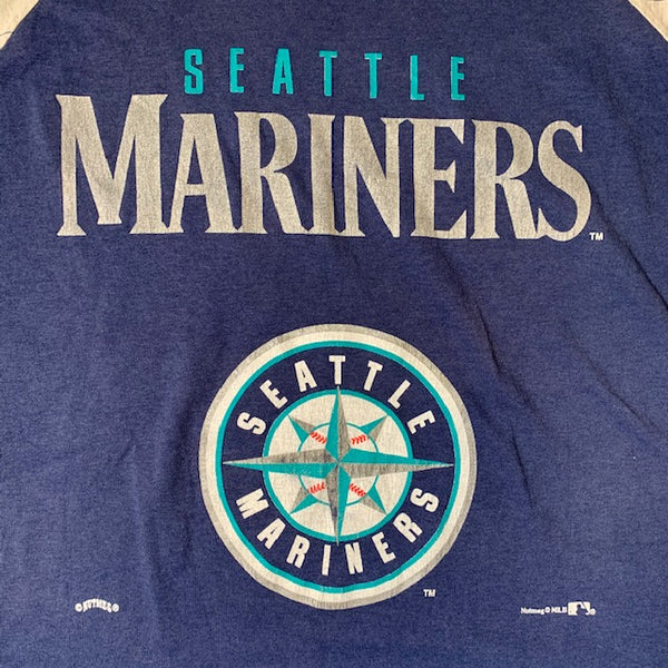 Vintage Seattle Mariners Tee Navy M- L