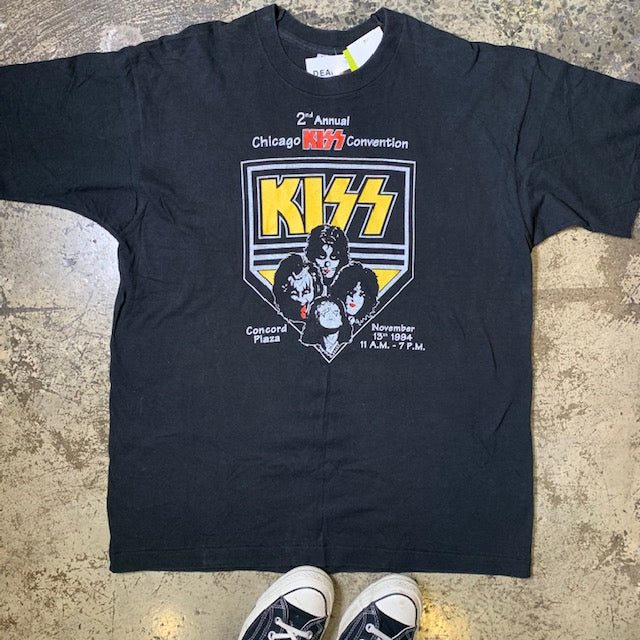 Vintage Kiss Chicago Convention Tee Black XL
