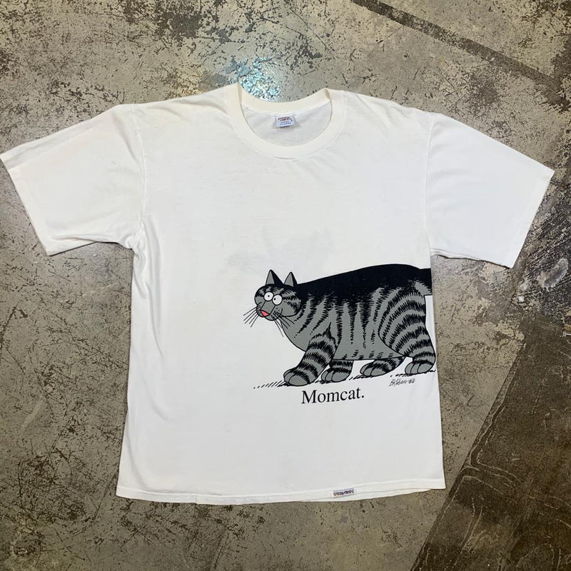 Vintage late 80s Cat Tee XL