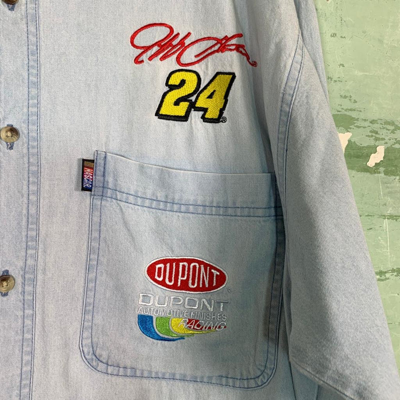 Vintage Nascar Embroidered Shirt L