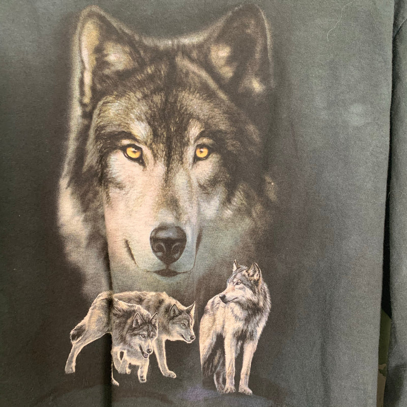 Vintage 'The Mountain' Wolf Long Sleeve Tee M
