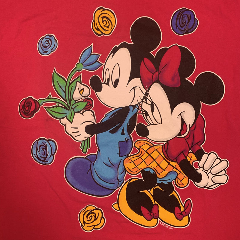 Vintage Mickey & Minnie 90s Tee L