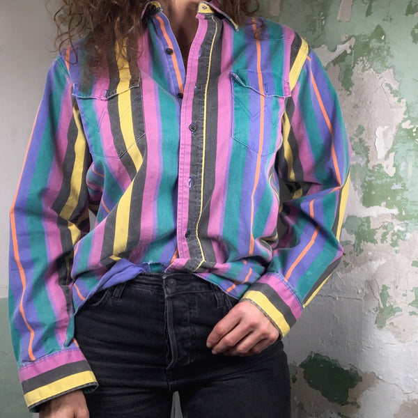 Vintage 90s Wrangler Rodeo Button Up Shirt L