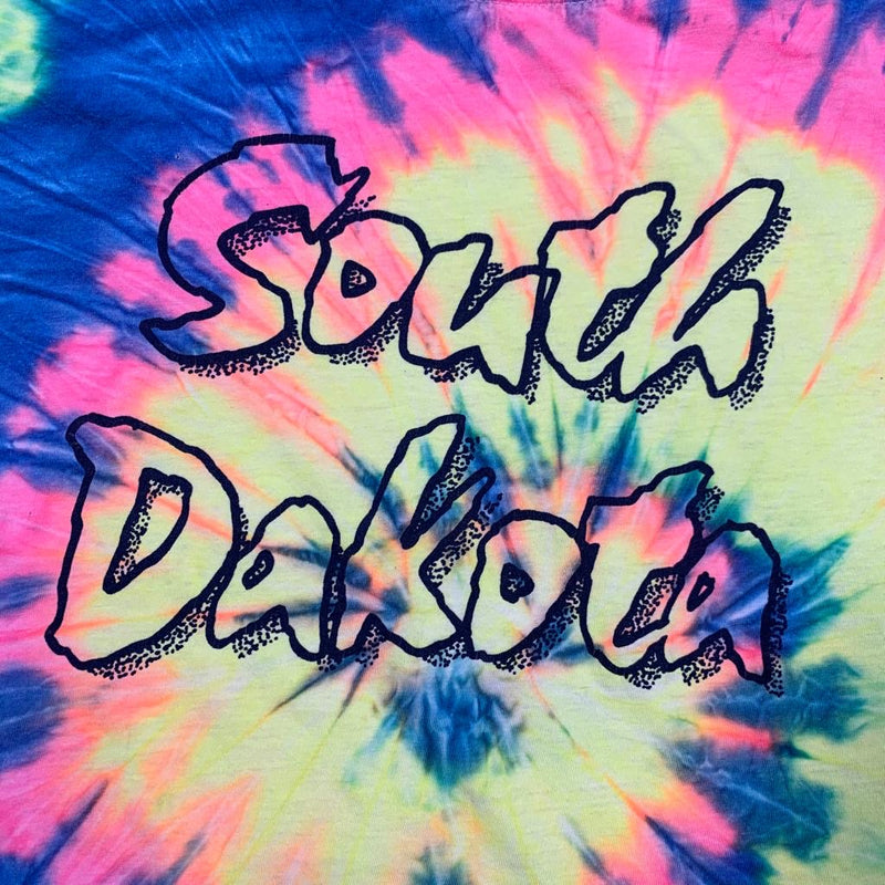 Vintage Tie Dye South Dakota Tee L