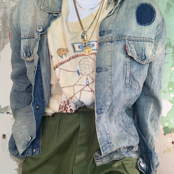 Vintage Distressed Levis Denim Jacket XL