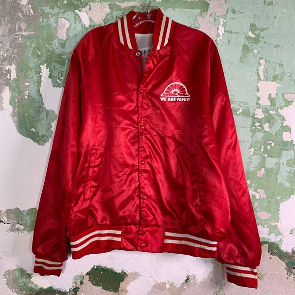 Vintage 80s Satin Bomber Jacket XL