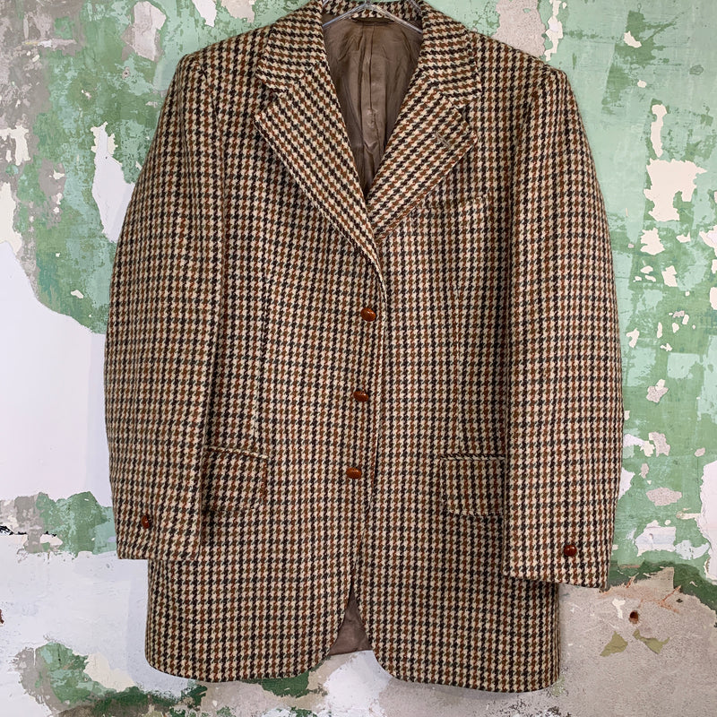 Vintage Wool Tweed Oversized Mens Blazer  XL