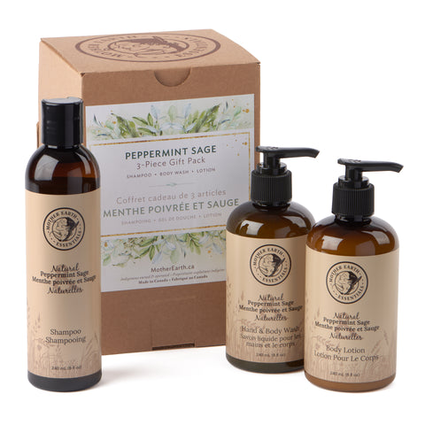 Peppermint Sage 3-Piece Gift Pack<br>by Mother Earth Essentials