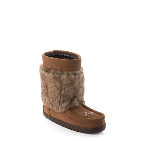 Waterproof Faux Fur Half Mukluk