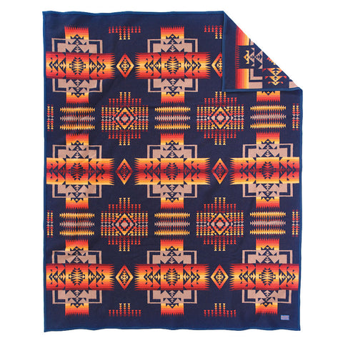 Black Twin Authentic Pendleton Chief Joseph Robe Blanket