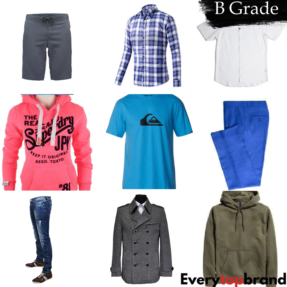 Second Hand Used Clothes 250 Pieces Mens Clothes, Re-wearable B Grade 40p Each - Everytopbrand.com