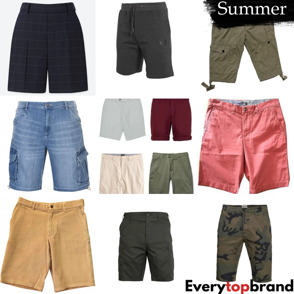 Second Hand Used Clothes 20 x Men's Shorts, Wholesale A+ Grade £2 Each - Everytopbrand.com