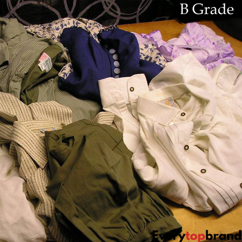 Second Hand Used Clothes 100 KG Wholesale Women's Clothes Mix, Re-Wearable B Grade £1.25 Per KG - Everytopbrand.com