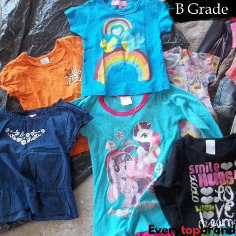 Second Hand Used Clothes 50KG Wholesale B Grade Re-Wearable Kids summer mix £2.00 KG