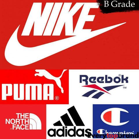 B GRADE Second Hand Used Sports & Designer brand Clothing and Trainers Wholesale 15KG  Adults Assorted Mix B Grade £5 per KG