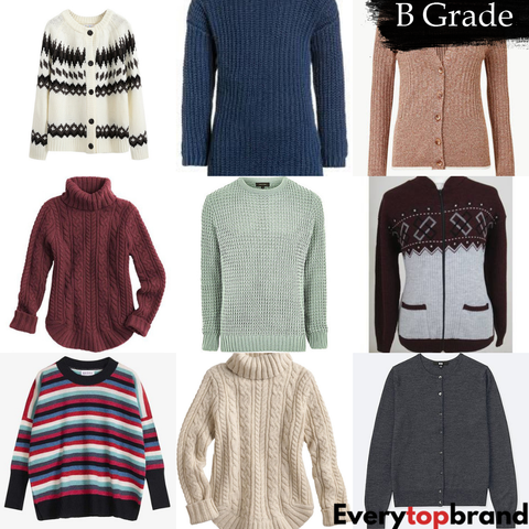 Second Hand Used Clothes 40 x Women's Knitwear UK Market B Grade £1.00 Each - Everytopbrand.com