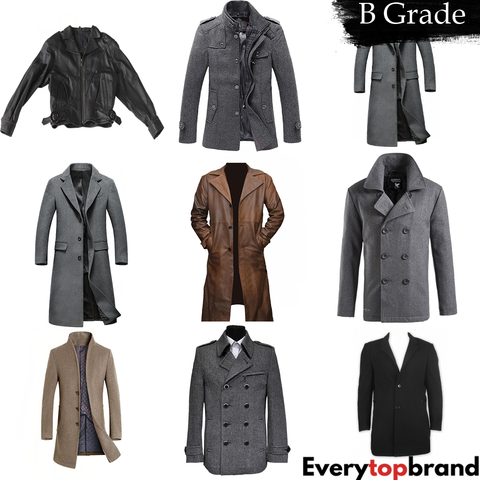 Wholesale Second Hand Used Men's Coats mix, 20 KG UK Market Grade B, £2 kg
