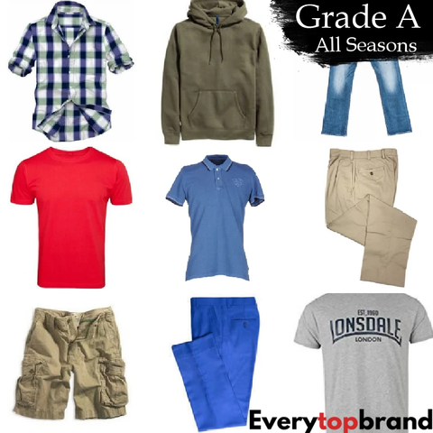Second Hand Used Clothes Wholesale 25 KG Men's Grade A All Season £3.50 per KG - Everytopbrand.com