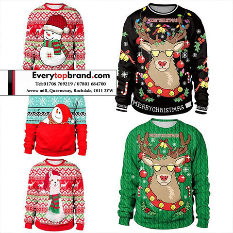 15 KG Wholesale Second Hand Assorted Christmas Clothing £6.00 Per KG
