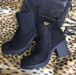 Angel Ankle Boot - Black Suede