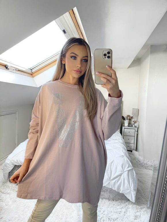 Vuiton Oversized Top - Pink