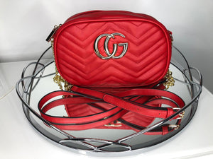 Georgia Quilted Bag - Red