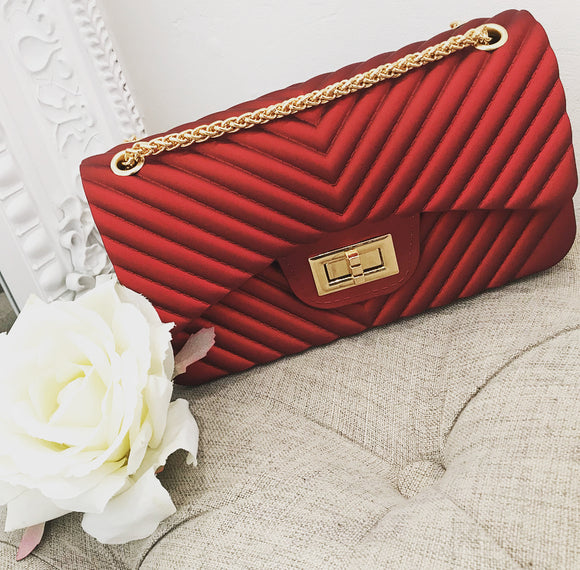 Imogen Quilted Medium Bag - Red
