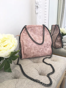 Nessa Chunky Chain Medium Bag - Pink