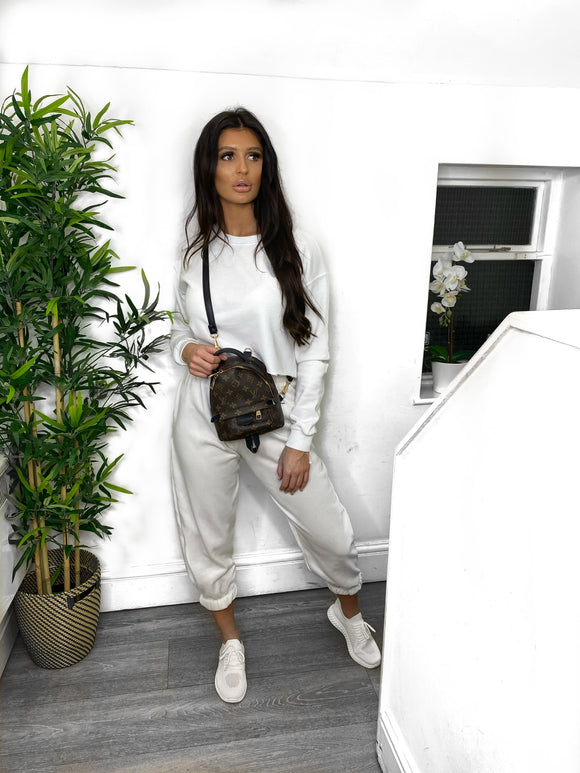 Nora Cropped Jumper - White
