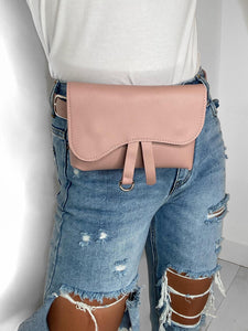 Amara Leather Bumbag - Pink