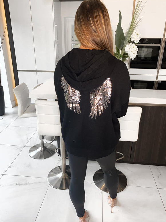 Stace Angel Wings Hoodie - Black