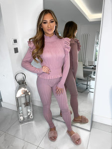 Lucie Mesh Front Loungewear - Pink