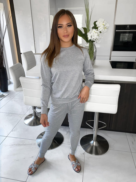 Kaitlin Long Sleeve Lounge Set - Grey
