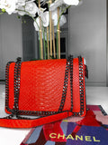 Araz Snake Effect Bag  - Red