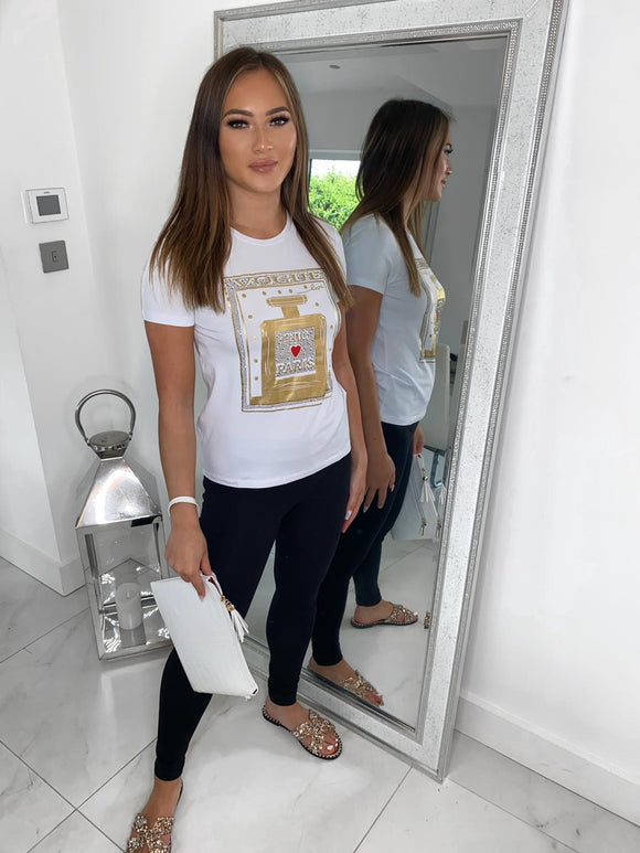 Vogue Chic Paris Tee - White