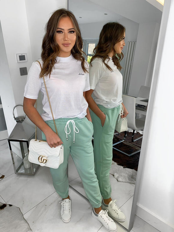Mae Casual Joggers - Mint Green