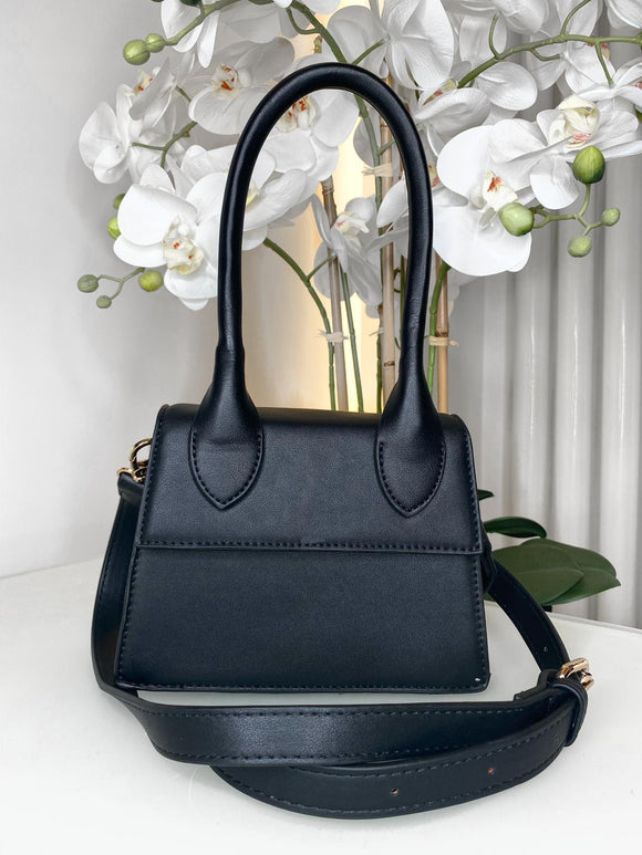 Emma Handle Mini Bag - Black