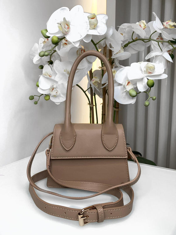Emma Handle Mini Bag - Beige
