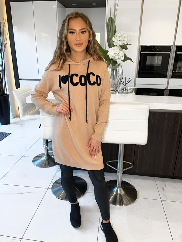 I Love Coco Hoodie - Camel